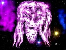 Universe face illustration background Royalty Free Stock Photos