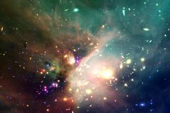 Universe filled stars, nebula and galaxy. Cosmic art, science fiction wallpaper. Elements of this image furnished by NASA royalty free stock photo