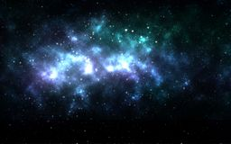 Universe filled with stars. Stock Image