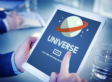 Universe Galaxy Earth Globe  Interstellar Science Concept Royalty Free Stock Photos