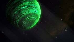 Universe Of Gas Giants Stock Images