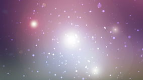 Universe with glowing stars, loopable Royalty Free Stock Image