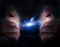 Universe in hand Royalty Free Stock Photos