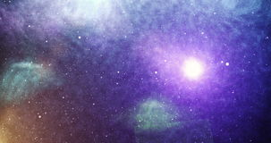 Universe light sun. View of universe with light of sun, stars and amazing colorful stock video footage