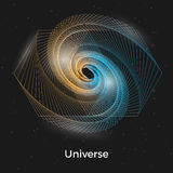 Universe linear concept Stock Photography