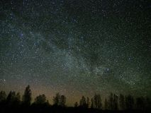 Universe and milky way stars Cassiopeia constellation Andromeda Galaxy on night sky Stock Photography