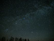 Universe and milky way stars Andromeda galaxy Doble cluster on night sky Royalty Free Stock Image