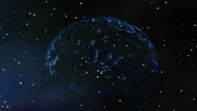 The universe of the mind. Brain and Universe, conceptual for mind, dreaming, aspirations, genius, intelligent design stock footage
