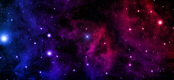 Free Universe, Nebula, Cluster Of Stars, Starry Sky,outer Space, Radiance, Red, Blue, Purple,black Stock Photos - 175872873