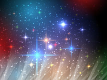 Universe night sky vector Royalty Free Stock Photography