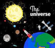 The universe in outer space Royalty Free Stock Image