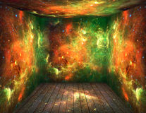 Universe. The room with space universe around. Elements of this image furnished by NASA Stock Image