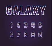 Universe 80s Retro Sci-Fi Font Alphabet Vector. EPS 10 stock illustration