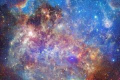 Universe scene with bright stars and galaxies in deep space. Showing the beauty of space exploration. Elements of this image furnished by NASA royalty free stock photos