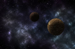 Universe scene with planets, stars and galaxies Stock Images