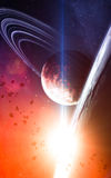 Universe scene with planets, stars and galaxies in outer space s Royalty Free Stock Photo