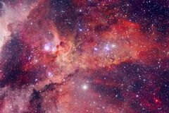 Free Universe Scene With Stars And Galaxies In Deep Space Stock Photo - 179507880