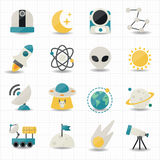 Universe and Space icons. This image is a vector illustration Royalty Free Stock Images