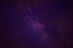 Universe space milky way galaxy with many stars at night Royalty Free Stock Image