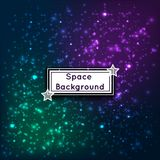 Universe space stars galaxies abstract background vector illustration Royalty Free Stock Photo