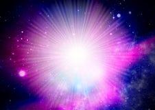 Universe starburst Stock Photo