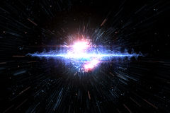Universe Starscape Explosion 3D Illustration. Cosmic galaxy explosion in outer space, 3D illustration Stock Images