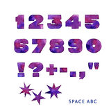 Universe style font Royalty Free Stock Images