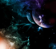 Universe. Univers with planet, stars and nebula Royalty Free Stock Image