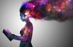 Universe woman Royalty Free Stock Photos