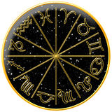 Universe Zodiac. Zodiac Signs on Universe Background Royalty Free Stock Images