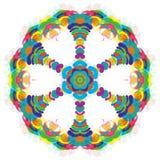Universeel Abstract Kleurrijk Grappig Carnaval-Wiel royalty-vrije illustratie
