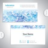 Universeel blauw-wit laboratoriumadreskaartje. Stock Foto's