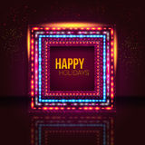 Universeel die vakantiekader van lichten wordt gemaakt. Royalty-vrije Stock Foto