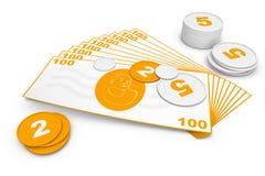 Universeel geld. Vector Illustratie
