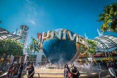 Universele die Studio Singapore, een themapark binnen Toevluchtwereld Sentosa wordt gevestigd op Sentosa-Eiland, Singapor royalty-vrije stock foto's