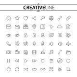 Universele dunne die pictogrammen voor Uw Web en Mobiel Ontwerp worden geplaatst vector illustratie