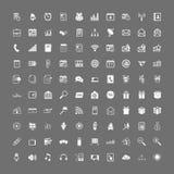 100 universele geplaatste Webpictogrammen Stock Fotografie