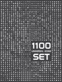 Universele reeks van 1100 pictogrammen royalty-vrije illustratie