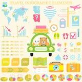 Universele reis infographic elementen Stock Foto