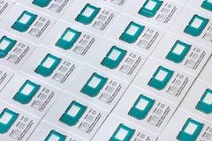 Universele SIM-kaarten Stock Fotografie