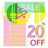 Universele tropische stijl commerciële banner stock illustratie