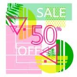 Universele tropische stijl commerciële banner Royalty-vrije Stock Foto's