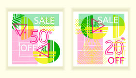 Universele tropische stijl commerciële banner vector illustratie