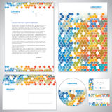 Universell apelsin-blått identitetsmall. stock illustrationer