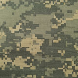 Universell kamouflagemodell, enhetlig digital camo för arméstrid, closeup för USA militär ACU-makro, detaljerat stort reva-stopp  Royaltyfri Fotografi