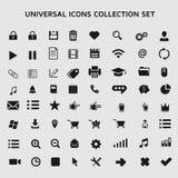 Universell symbolssamling vektor illustrationer