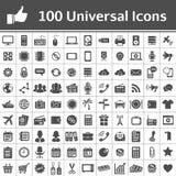Universell symbolsuppsättning. 100 symboler royaltyfri illustrationer