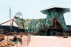 Universell vattenvärldsshow på universella studior royaltyfria bilder