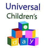 Universell vektor för dag för barn` s royaltyfri illustrationer