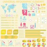 Universella infographic beståndsdelar Arkivbild